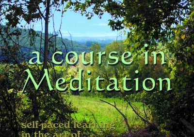 "Cover of ""A Course in Meditation"" book"